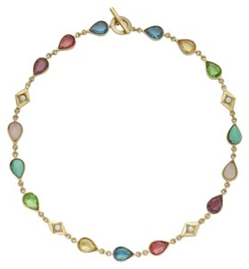 Ralph Lauren Price Reduced 10% Until 7/30...FOUR Piece SET ( 2) 14k Gold-Plated Multicolor Bead Necklaces, Bracelet and Earrings with Semi Precious Accents