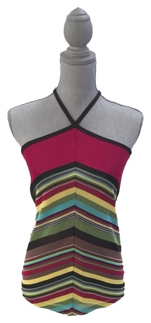 M Missoni Colorful Multicolored Halter Top