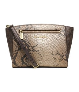 Michael Kors Embossed Snake Snakeskin Monogram Mk Cross Body Bag