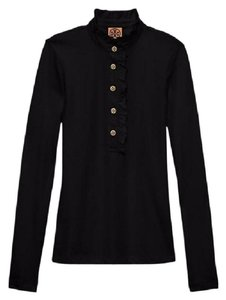 Tory Burch Black New with Tag Long-sleeve Lidia Polo Button-down ...