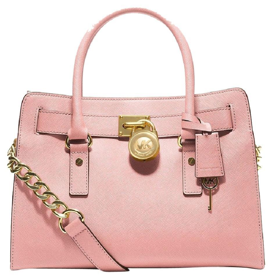 b34197ca1a7f Michael Kors Light Ballet Blush East West Gold Satchel in Blossom Pink  Image 0 ...