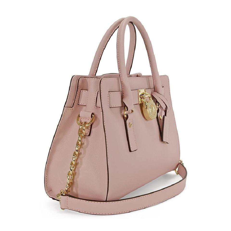 3b49d0a9d94b Michael Kors Hamilton Ew Medium Saffiano Blossom Pink Leather ...