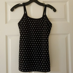 Kate Spade & Beyond Yoga Top Black with white polka dots.