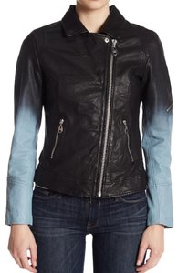Doma Nappa Ombre Super Unique Blue Leather Jacket