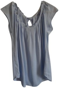 LC Lauren Conrad Top Baby Blue with white dots (small)