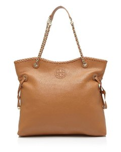 Tory Burch Marion Slouchy Shoulder Tote in Bark, Brown