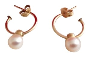 Other 14k Gold Pearl Hoop Earrings.