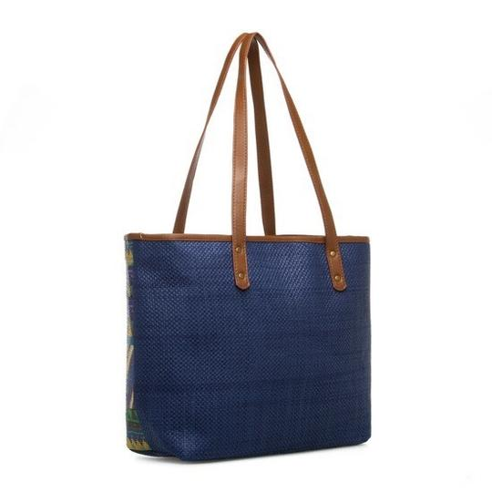 Sun N Sand Accessories Tote in Navy Comination Image 6