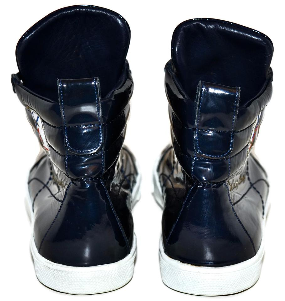 2046a1ba5ba Saint Laurent Blue Ysl Rolling High-top Sneakers Navy Patent Leather Mens  43 Sneakers Size US 10 Regular (M, B) - Tradesy