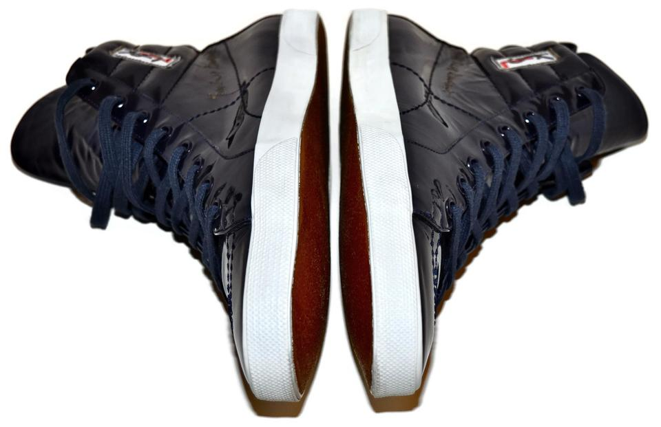 f2a6a1798f3 Saint Laurent Ysl Yves High Top Sneakers Blue Athletic Image 11.  123456789101112
