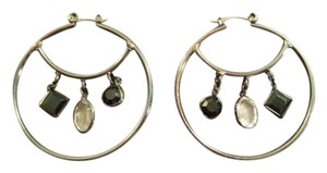 New York & Company Charmed Hoop Earrings