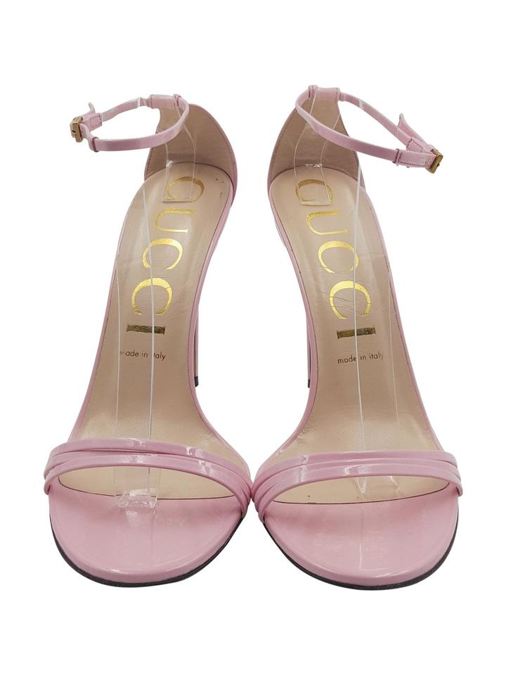 279515d6d59 Gucci Pink Light Patent Leather 40/10 Ankle Strap Heels Sandals Size EU 40  (Approx. US 10) Regular (M, B) 50% off retail