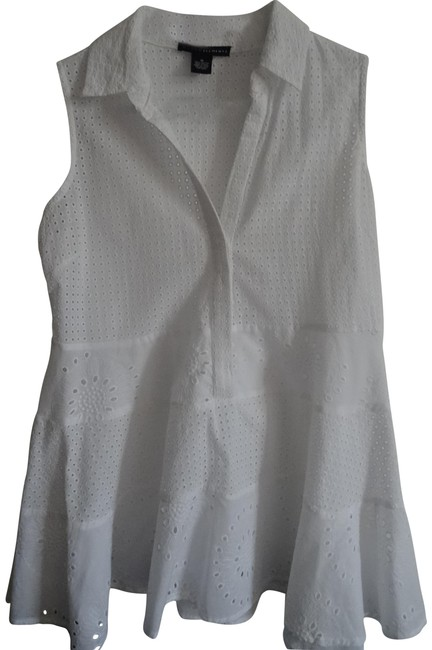 Grace Elements White Blouse Size 10 (M) Grace Elements White Blouse Size 10 (M) Image 1