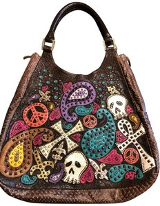 Kippys Studded Leather Hobo Bag