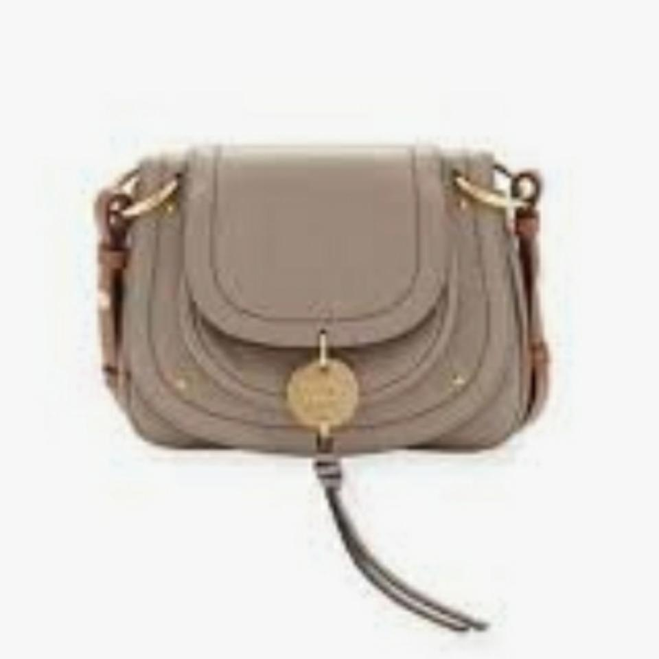 cd329c5fdf7 See by Chloé Nwt's Med Coin Saddle Knotty Grey Goat Skin Leather ...