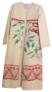 Mary McFadden cream with pink and green Jacket