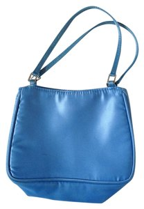 Henri Bendel Satin Handbag Wristlet in Blue