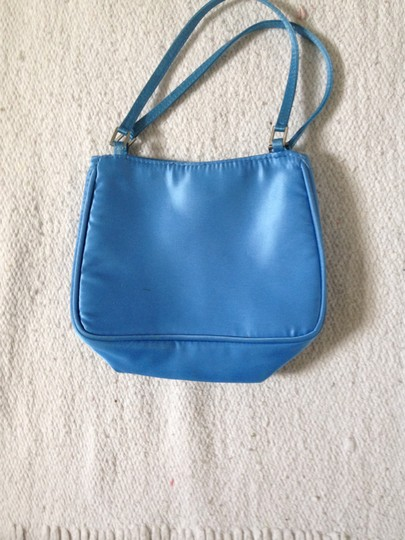 Henri Bendel Satin Handbag Wristlet in Blue Image 2