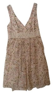 Sundance short dress Cream floral on Tradesy