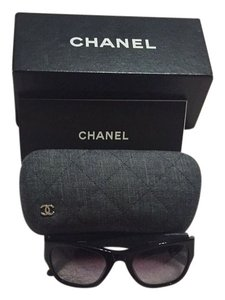 Chanel Chanel Denim Sunglasses With Sunglass Case, Box And Book