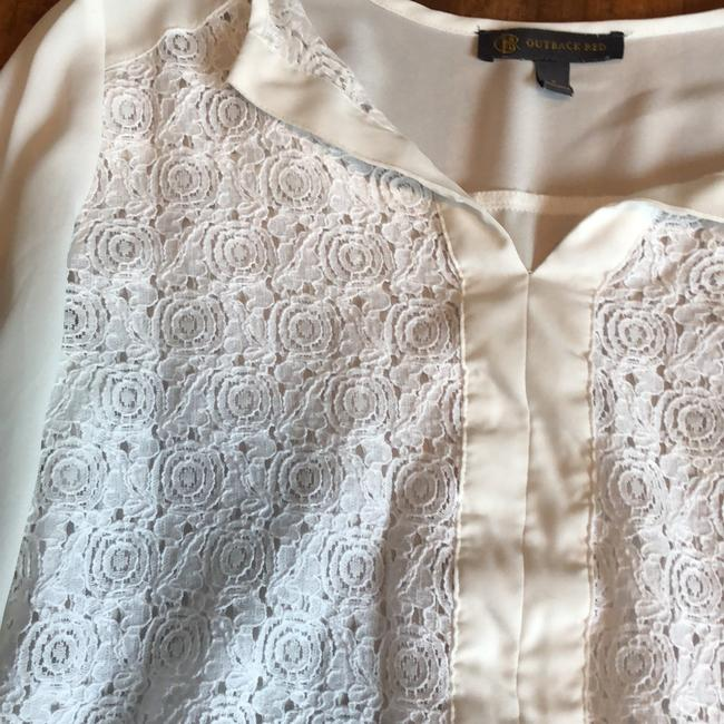 Outback Red White Eyelet Front Tunic Size 4 (S) Outback Red White Eyelet Front Tunic Size 4 (S) Image 3