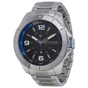 Tommy Hilfiger Tommy Hilfiger Silver Stainless Steel Black Dial 1791002 Watch