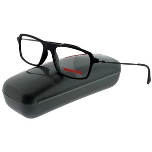 Prada PS03FV-DG01O1 Red Feather Men's Black Frame Genuine Eyeglasses