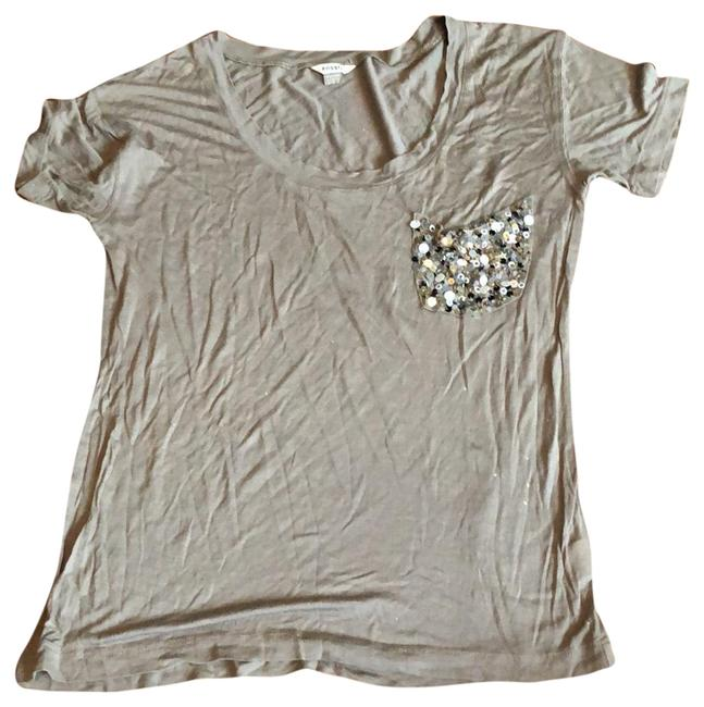 Item - Gray Sequined Pocket Tee Tunic Size 0 (XS)