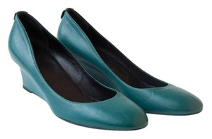 Gucci Leather Emerald Green Wedges