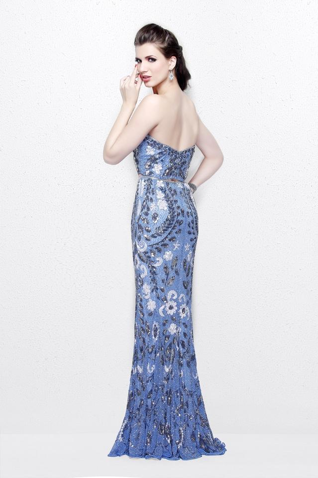 Primavera Couture Periwinkle 1884 Two Piece Beaded Prom Gown Long ...