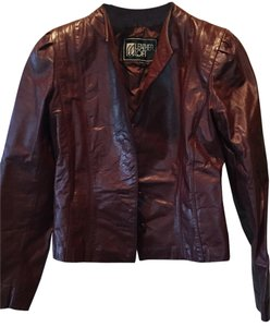 Wilsons Leather Oxblood Leather Jacket