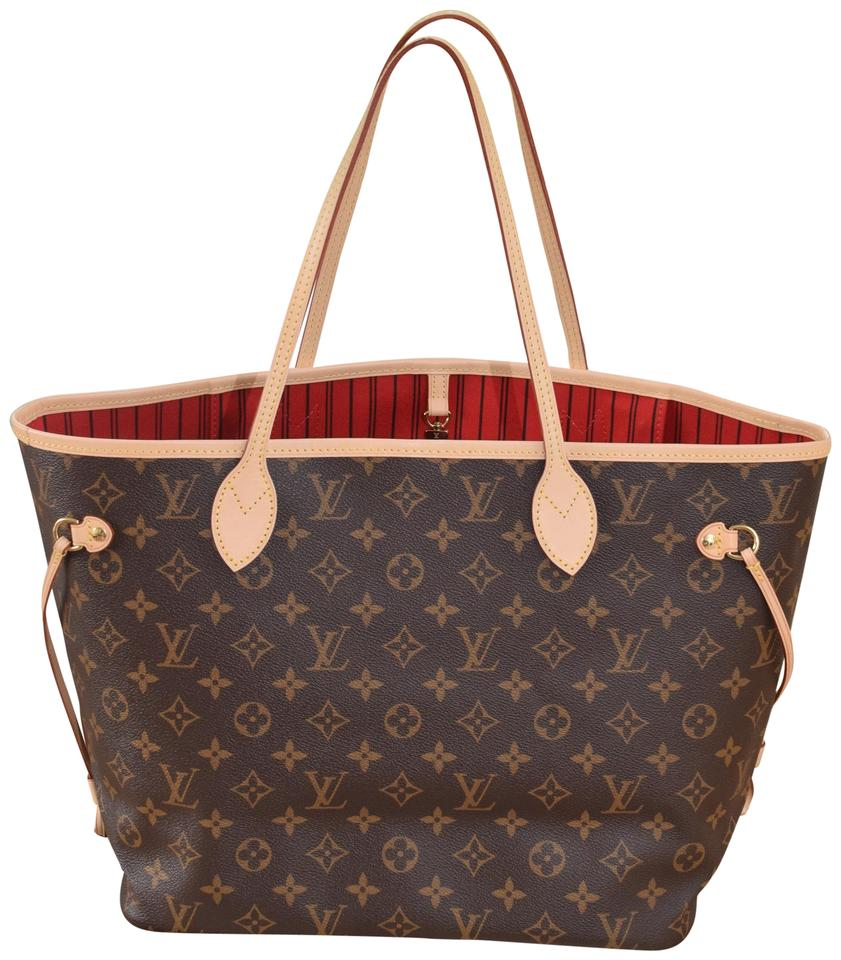 417d9e5d1184 Louis Vuitton Lv Neverfull Never Full Mm Tote in Monogram Image 0 ...