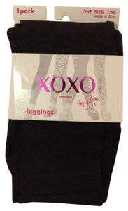 XOXO Brown & Black Leggings