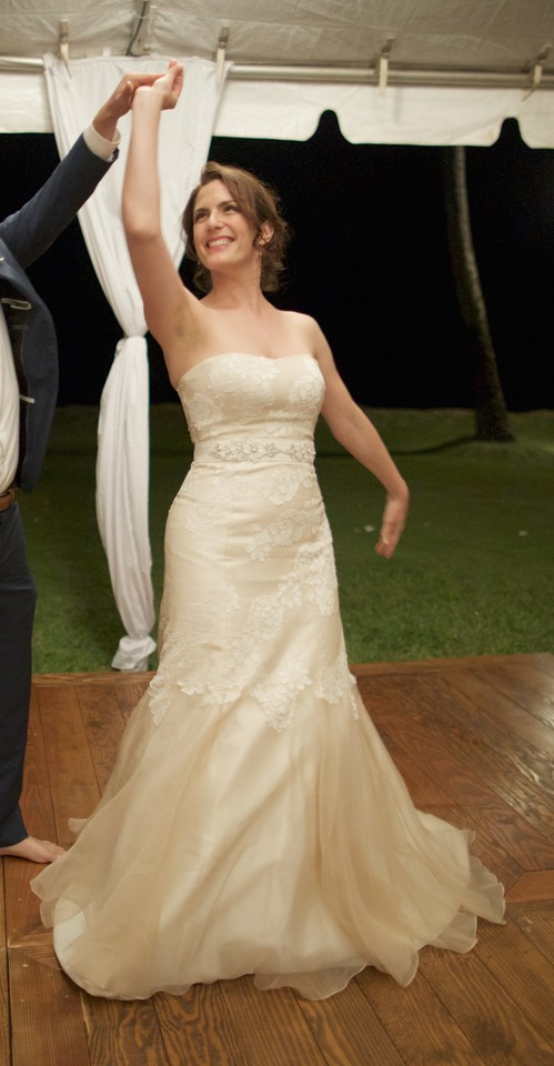 Champagne Classic Hollywood Gown Wedding Dress Size 8 (M) - Tradesy