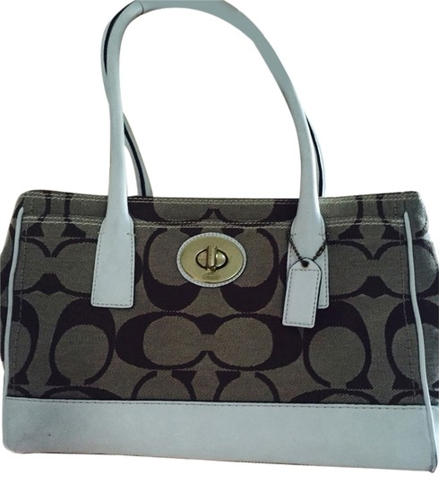 Preload https://item2.tradesy.com/images/coach-tan-brown-white-canvas-and-leather-tote-2294986-0-0.jpg?width=440&height=440