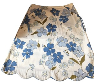Willi Smith Mini Skirt blue, white and olive
