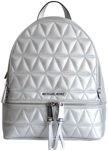 Michael Kors Rhea Leather Quilted Backpack