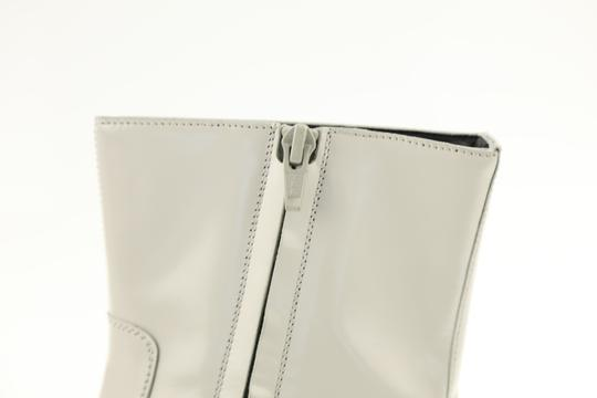 Balenciaga Leather Patent Zipper Grey Boots