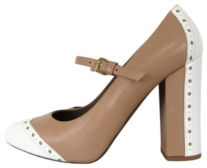 Marni tan / white Pumps