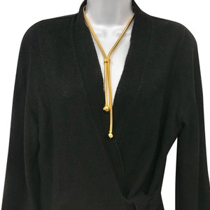 Chanel CHANEL HIGH POLISH GOLD TONE METAL FINISH NECKLACE