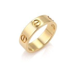 Cartier gold love rings up to 70 off at tradesy cartier love 18k yellow gold 55mm wide band ring size 53 us 65 w junglespirit Choice Image