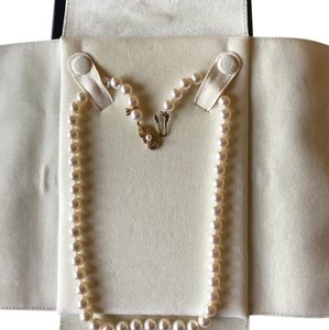Mikimoto 18k Yellow Gold Akoya Cultured Pearl Three Piece Jewelry Set