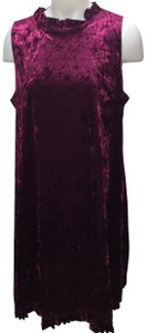 Annalee + Hope Sleeveless Velvet Red Velvet Dress