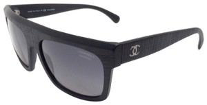 Chanel Chanel 5333 501/S8 Rectangular Runway Polarized Black Wood Sunglasses