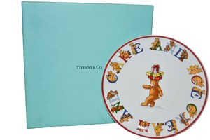 Tiffany & Co. Authentic New 1997 Tiffany & Co. Alphabets Bears Party Plate Set 4 Pcs