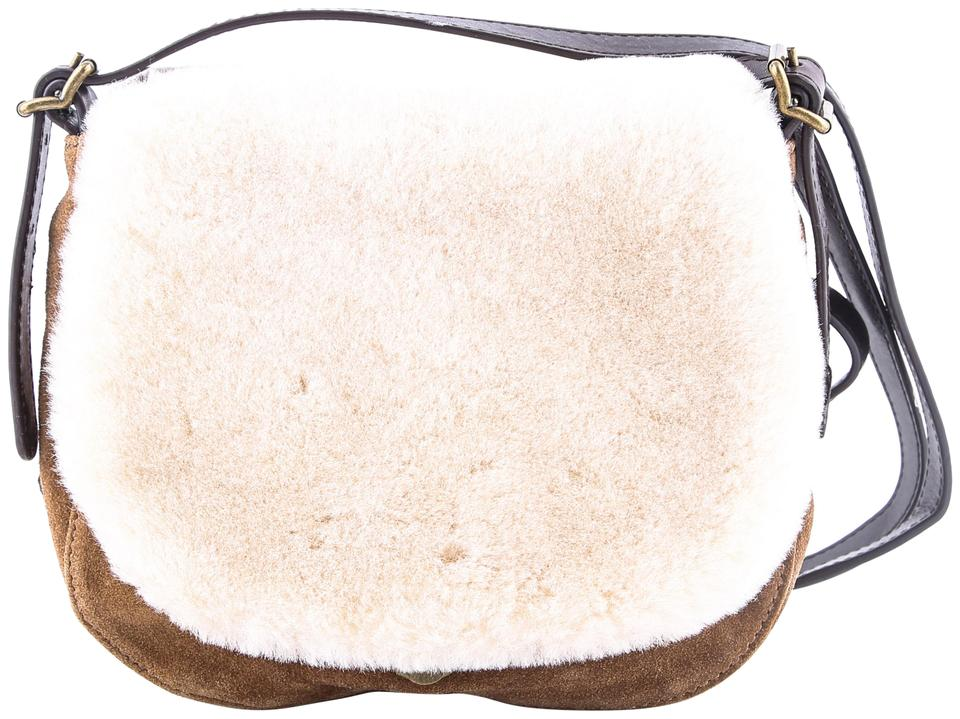 1d6181ad6e UGG Australia Heritage Suede Brown Shearling Wool Cross Body Bag ...