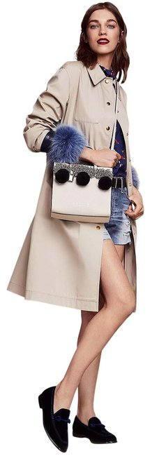 Item - The Grind Beads and Pom Pom Antique White Leather Satchel