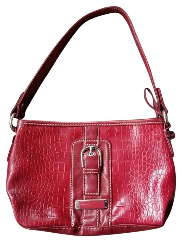 5071cd59f2b2 Tommy Hilfiger Patent Leather Vegan Leather Satchel in Red Image 0 ...