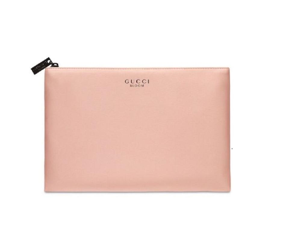 a3d4ac35394 Gucci Gucci Bloom Pouch Cosmetic Hand Bag Makeup Case Clutch blush pink  nude Image 0 ...