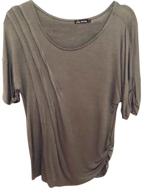 Item - Green Rouched Stretchy Tee Shirt Size 4 (S)